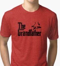 Grandfather Humour Godfather Joke Funny Comedy Tri-blend T-Shirt