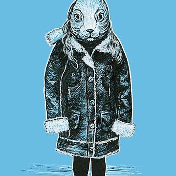 Winter White Rabbit by buggybear