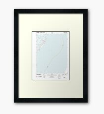 USGS TOPO Map New Jersey NJ Avalon 20110428 TM Framed Print