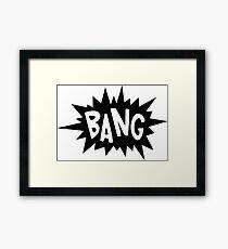 Bang! Comics Framed Print