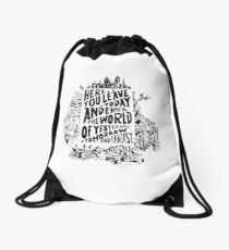 You'll Be In My Heart (On White) Drawstring Bag