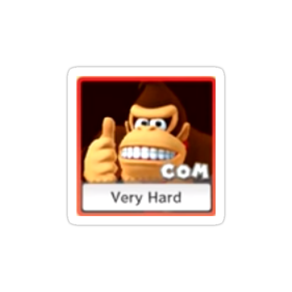 Quot Donkey Kong Very Hard Expand Quot Stickers By Sarabanda