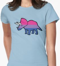 Biceratops (Bisexual Triceratops) Women's Fitted T-Shirt
