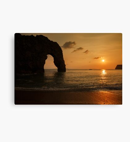 Sunset at Durdle Door Canvas Print