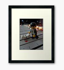 DJ Minifig Framed Print