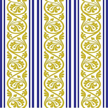 stripes and damask mustard yellow purple by doonidesigns