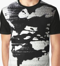Ink Blot on Silver Graphic T-Shirt