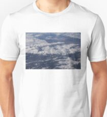 Flying Over the Snow Covered Rocky Mountains T-Shirt