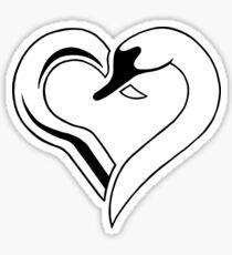 Captain Swan heart Sticker