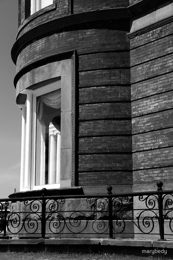 Harrington Inn Detail 3 BW by marybedy