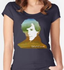 BBC Sherlock Holmes Watercolor Art Women's Fitted Scoop T-Shirt