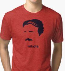 Nikola Tesla (Hirsute History) Tri-blend T-Shirt