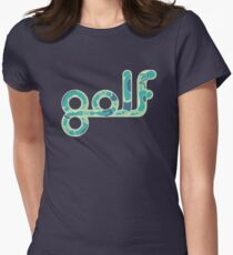 Golf.  Womens Fitted T-Shirt