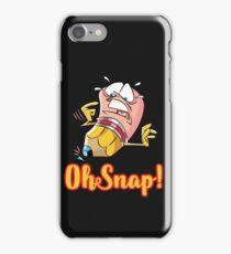 Funny Cartoon Oh Snap Broken Pencil Character iPhone Case/Skin