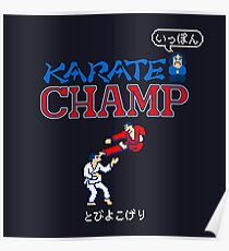Karate Champ Retro Videogame Poster