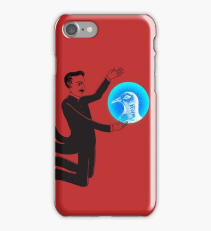 Tesla and the Pigeon iPhone Case/Skin