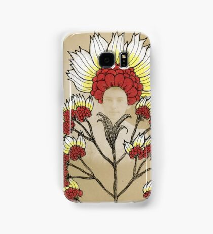 Red Flowers Bride Samsung Galaxy Case/Skin