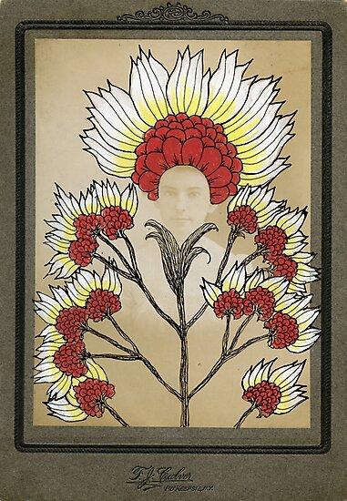Red Flowers Bride by SusanSanford