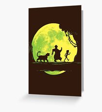 Jungle Moonwalk Greeting Card