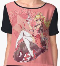Gamer Girl Peach Chiffon Top