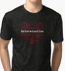 Undertale Word Heart Tri-blend T-Shirt