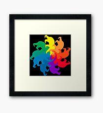 Bear Color Wheel Framed Print