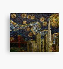Dedication to Van Gogh: San Francisco Starry Night Canvas Print