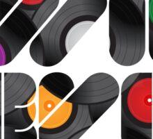 Vinyl will never die Sticker