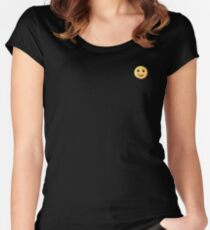 Smiley fry Women's Fitted Scoop T-Shirt