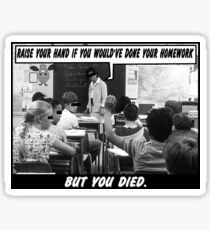 Funny Ads- Nationwide Dead Kid Homework Excuse Sticker