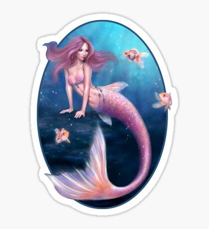 Aurelia Goldfish Mermaid Sticker