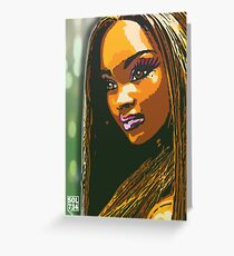 $IN CITY: JASMINE WEST Greeting Card