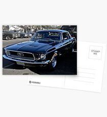 Black Ford Mustang Postcards