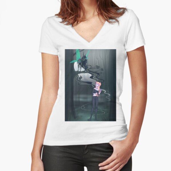 Dark Fairy Fitted V-Neck T-Shirt