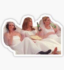 Monica, Rachel, and Phoebe  Sticker