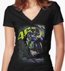 The Winning Motorbike Racer Women's Fitted V-Neck T-Shirt