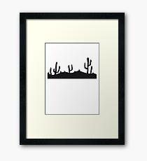 landscape pattern desert evening night sunset sunrise kakten cactus hot hot Framed Print