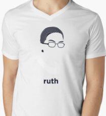 Ruth Bader Ginsburg (Hirsute History) Men's V-Neck T-Shirt