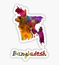Bangladesh in watercolor Sticker