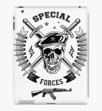 Special forces monochrome emblem iPad Case/Skin