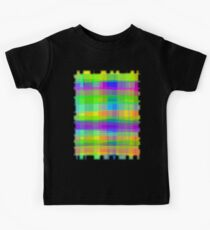 Psychedelic Fabric Texture Pattern Kids Tee