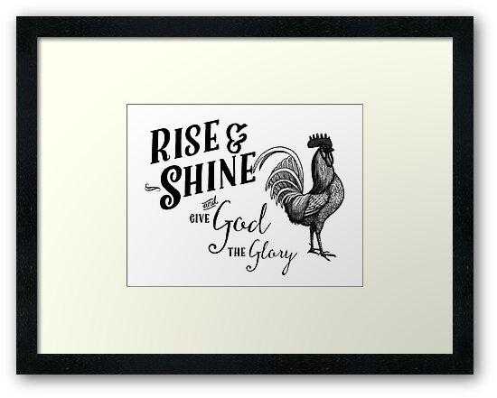 Rise Shine Give God Glory Rooster by Marcee Duggar