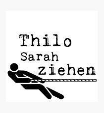 Thilo Sarah pull! Photographic Print