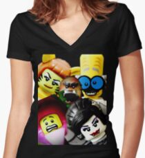 More Monsters and nice spirits Women's Fitted V-Neck T-Shirt