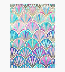 Glamorous Twenties Art Deco Pastel Pattern Photographic Print