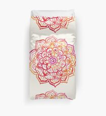 Watercolor Medallion in Sunset Colors Duvet Cover