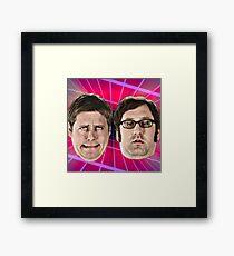 tim and eric show great job design Framed Print