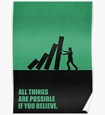 All Things Are Possible If You Believe - Corporate Start-Up Quotes Poster