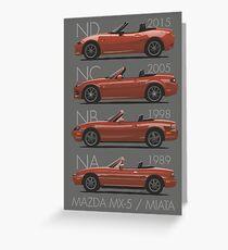 Mazda MX-5 evolution Greeting Card