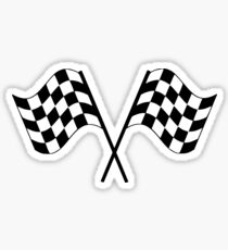 Checkered Flag Racing Sticker Sticker